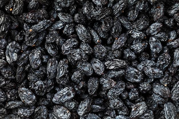 ブラックレーズンテクスチャ、人気のドライフルーツ Premium写真