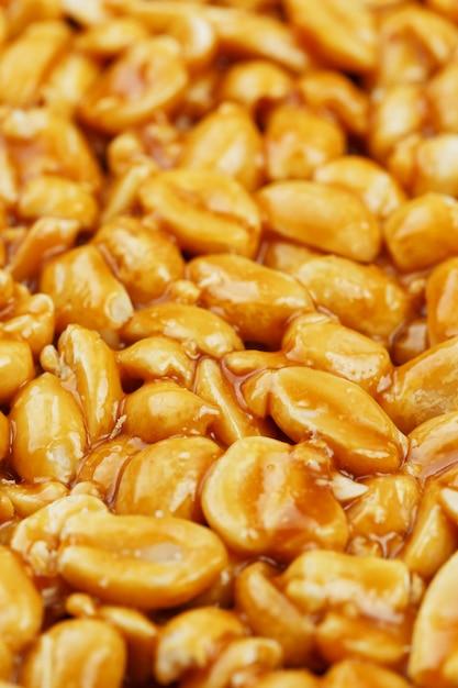 Козинаки из золотой, жареной фасоли из арахиса Premium Фотографии