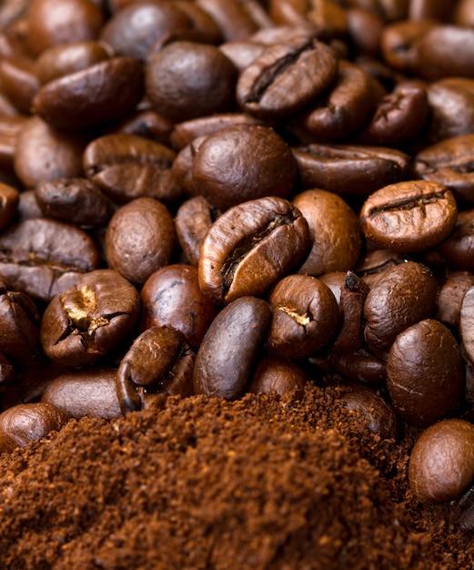 コーヒーの背景 Premium写真