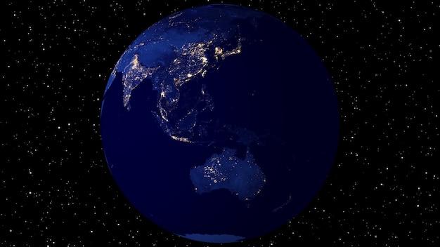 Анимация с использованием спутниковых снимков (наса). Premium Фотографии