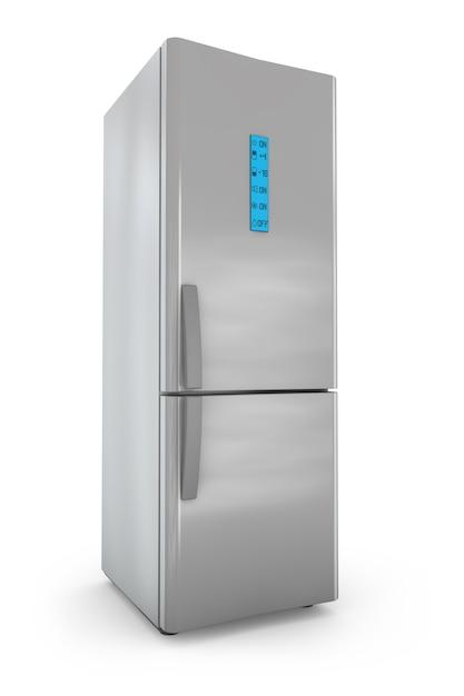 スクリーンコントロール付きのモダンな冷蔵庫 Premium写真
