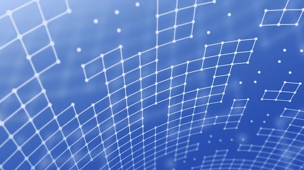 正方形のグリッドの抽象的な背景。 Premium写真