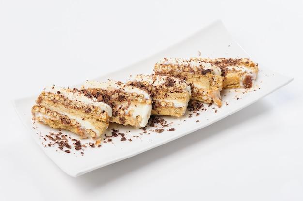Семифреддо десерт с мороженым и печеньем Premium Фотографии