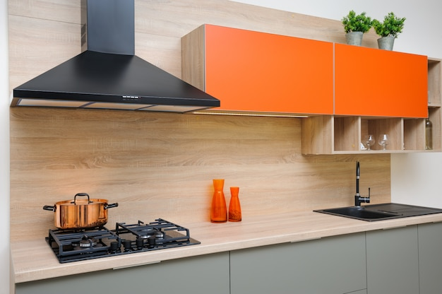 Роскошная современная кухня Premium Фотографии