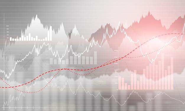 Диаграмма абстрактный бизнес с графиком восходящего тренда Premium Фотографии