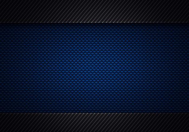 Абстрактный современный синий черный углеродного волокна текстурированный материал дизайн Premium Фотографии