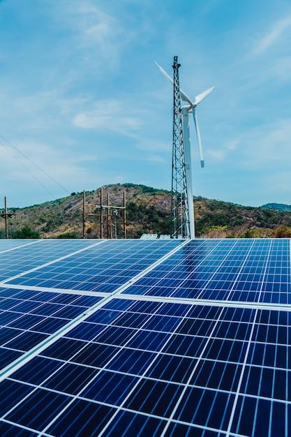 太陽電池は環境に優しい代替エネルギー源です Premium写真