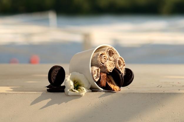 Тайское мороженое жареное Premium Фотографии