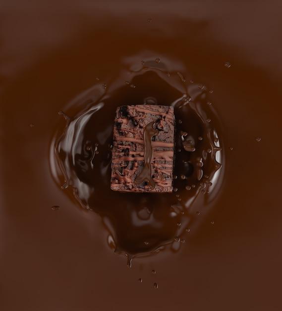 チョコレートのしぶき。 Premium写真