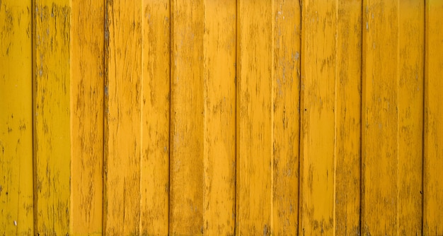 黄色の壁木製テクスチャ背景 Premium写真