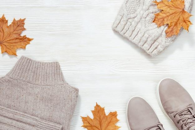 秋の快適な服 Premium写真