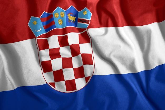 クロアチアの旗 Premium写真