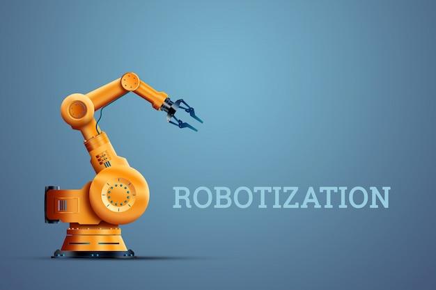 Промышленный робот-манипулятор Premium Фотографии