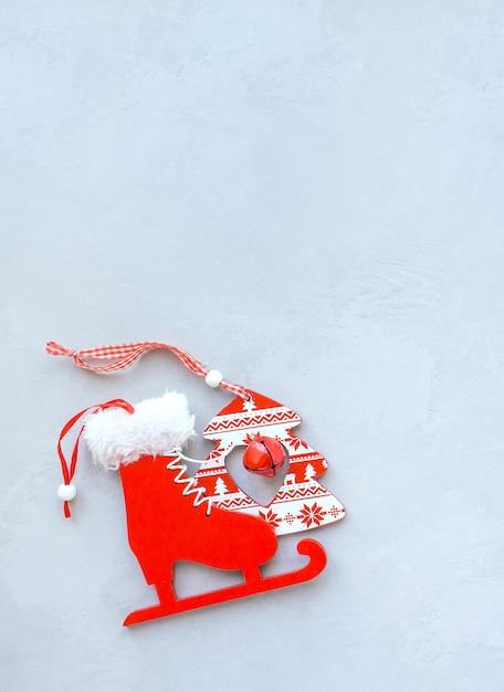 グレーの表面木のおもちゃスケート Premium写真