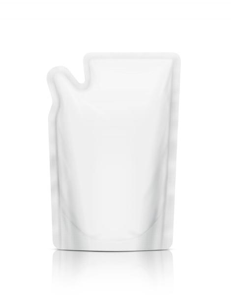 白い詰め替えポーチ絶縁 Premium写真