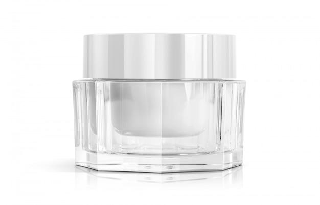 製品設計のための化粧品包装化粧クリームポット。 Premium写真