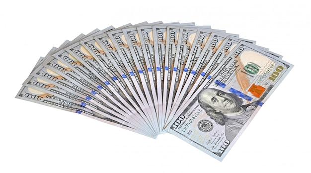 Пачка денег на столе 10 Premium Фотографии