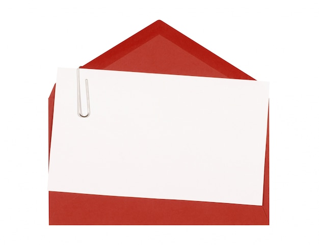 A card with a red envelope Free Photo