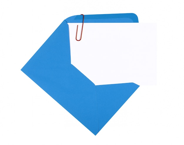 A card with blue envelope Free Photo