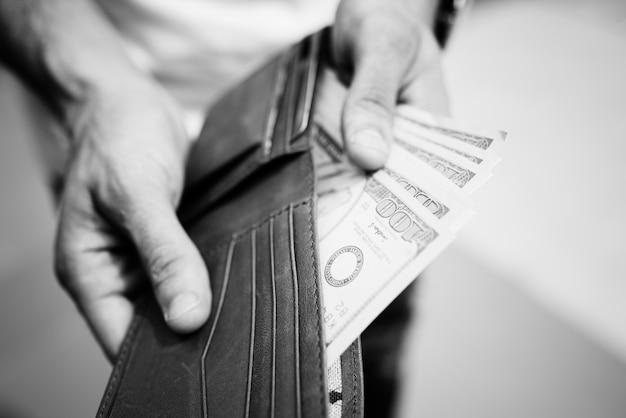 A doller bills in a wallet 53876 20707