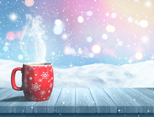 A hot drink for christmas Free Photo