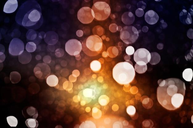 ぼやけた光とノイズの背景がたくさん Premium写真