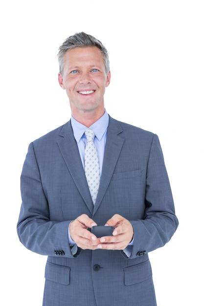 電話で成功したビジネスマン Premium写真