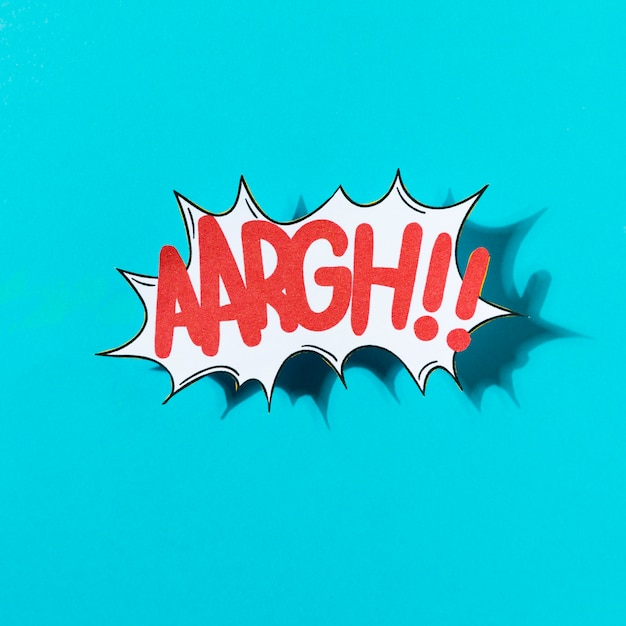 Векторная иллюстрация комиксов звуковой эффект aargh на синем фоне Бесплатные Фотографии