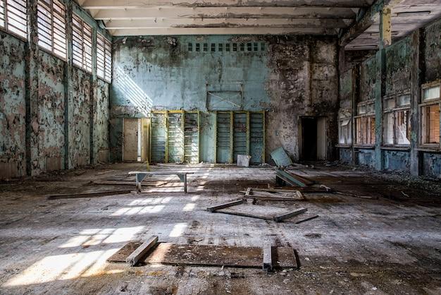 Pripyat Chernobyl의 버려진 체육관 무료 사진