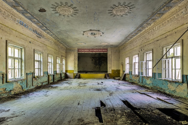 Teatro abbandonato a pripyat Foto Gratuite