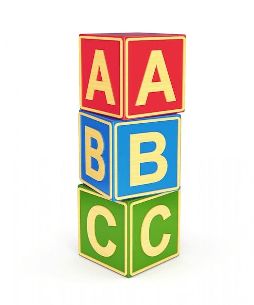 Abc cubes Premium Photo