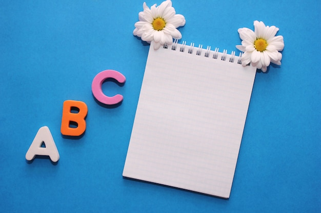 Abc-the first letters of the english alphabet Premium Photo