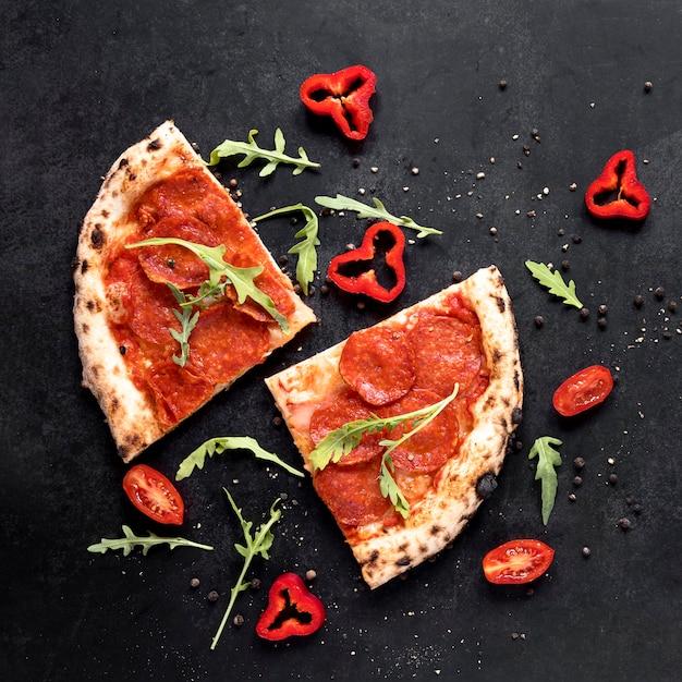 Выше вид итальянской кухни Бесплатные Фотографии