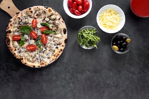 上記のイタリア料理の組成 無料写真