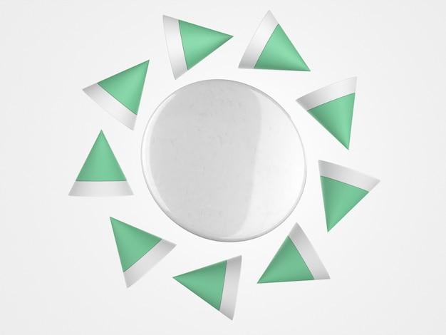 Perno di spazio copia 3d astratto circondato da forme poligonali Foto Gratuite