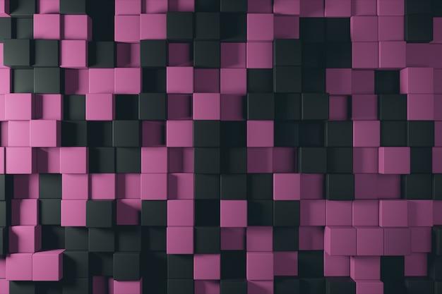 이중 톤 큐브의 추상 3d 일러스트 배경 프리미엄 사진