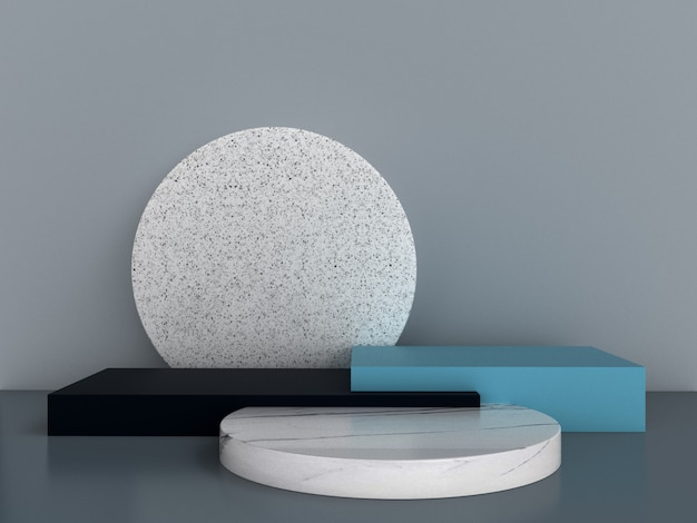 Abstract 3d rendering  geometric background. minimalistic design with empty space. Premium Photo