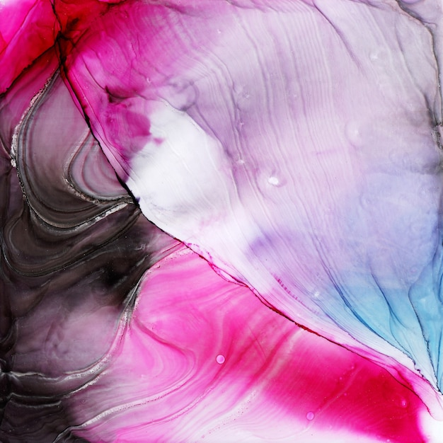 Abstract alcohol ink texture, macro photo Premium Photo
