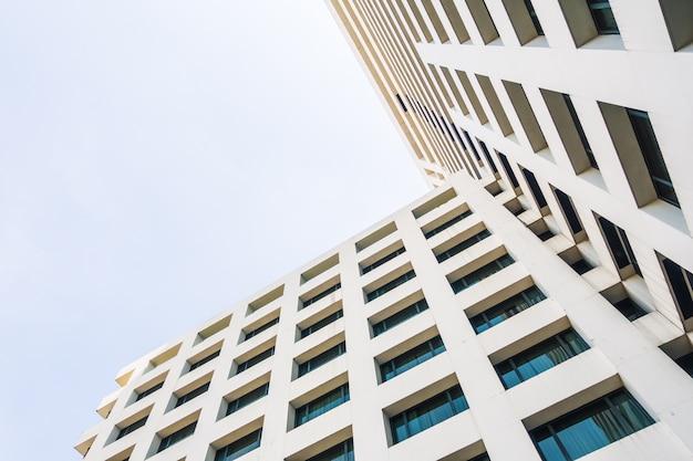 추상 건축과 건물 무료 사진