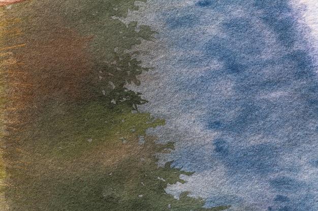 抽象芸術の背景の濃い青と緑の色。キャンバスに水彩画。 Premium写真