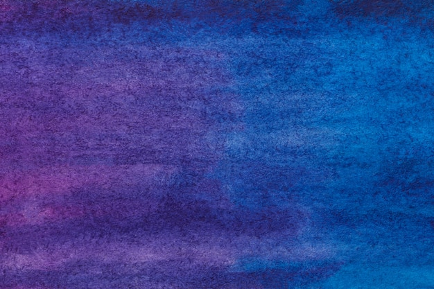Abstract art background dark purple and navy blue colors. watercolor painting on canvas. Premium Photo