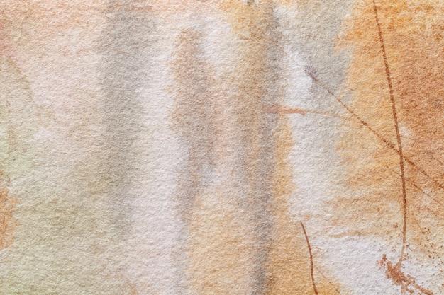 抽象芸術の背景の明るい茶色とベージュ色。 Premium写真