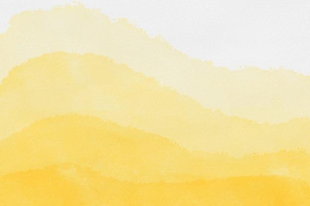 抽象芸術の背景の明るい黄色と黄金色の水彩画 Premium写真