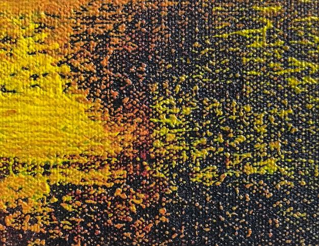 オレンジと黒の色で抽象芸術の背景 Premium写真