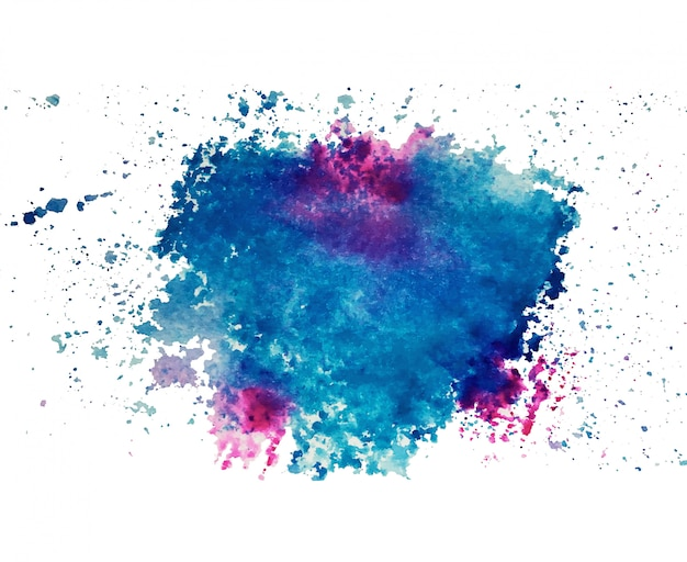 Abstract art of colorful bright ink and watercolor textures on white paper background. Free Photo