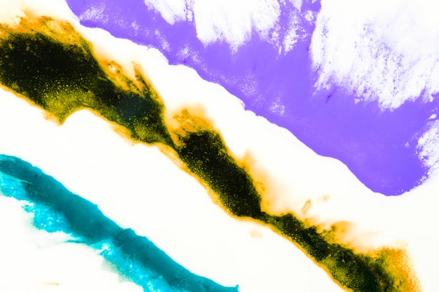 Abstract Artistic Splash Of Watercolor On White Background