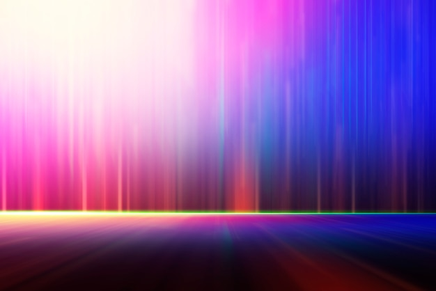 Abstract background, blurred colorful lighting for technology backdrop. Premium Photo