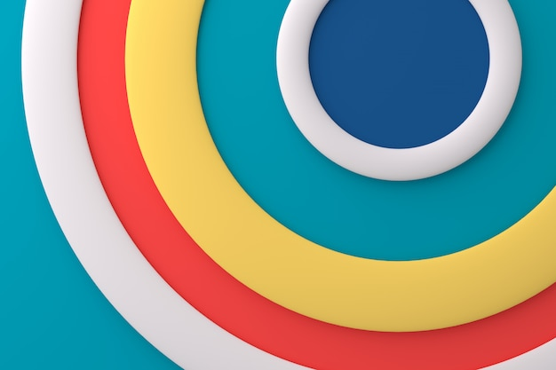 Abstract background of circle. 3d rendering. Premium Photo