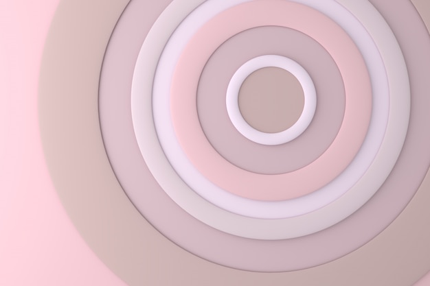 Abstract background of circle Premium Photo