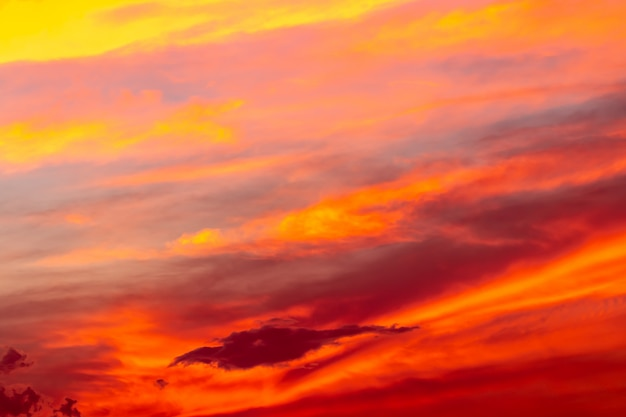 Abstract background of colorful sky in twilight. Premium Photo